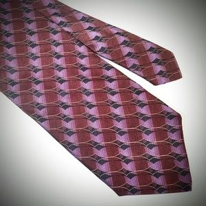 Ermenegildo zegna purple silk neck tie geometric